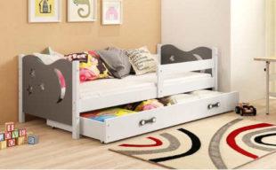 Dětská postel 160x80 se zábranouv matrací, roštem a úložným prostorem