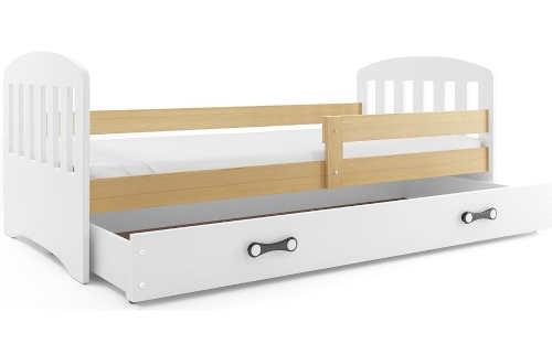 Dětská postel se zábranou a výsuvným úložným prostorem