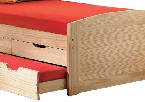 Dřevěná dětská postel s přistýlkou