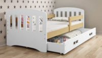 Levná dětská postel s matrací a úložným prostorem