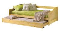Levná dřevěná postel s přistýlkou