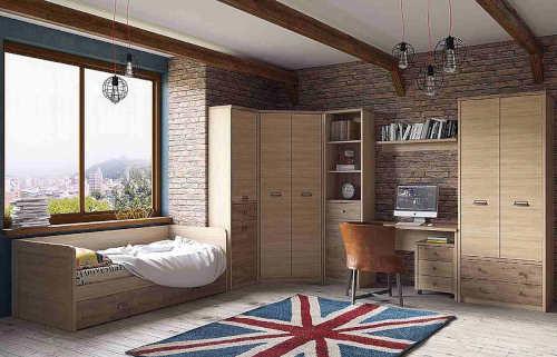 Nábytek do studentského pokoje s velkým množstvím úložných prostorů