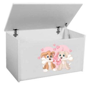 Praktický úložný box na hračky s výklopným víkem