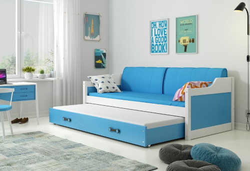 Dětská postel či gauč s výsuvnou přistýlkou