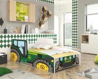 Dětská postel traktor s matrací a roštem