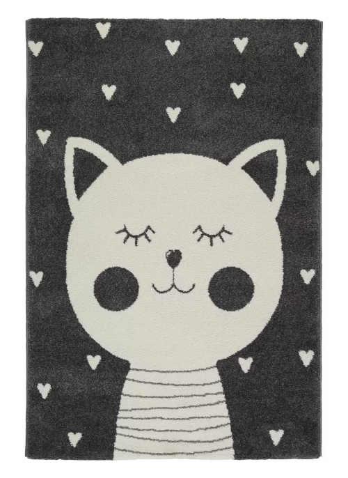 Kusový koberec do dětského pokoje Kočička