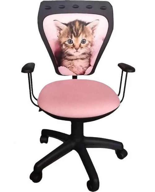 Pojízdná židle s obrázkem kotěte
