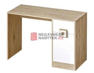 Psací stůl v moderním designu dub s bílou