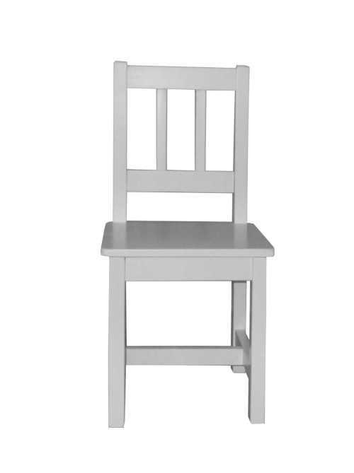 bílá dětská jídelní židle