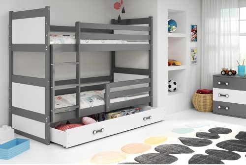dřevěná patrová postel 200x90