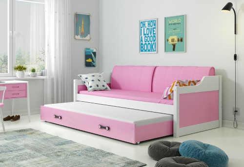 moderní a praktická postel s přistýlkou
