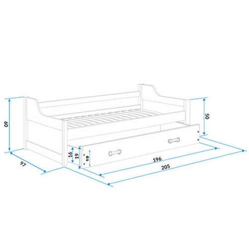 moderní zpracování postele-gauče do pokojíčku