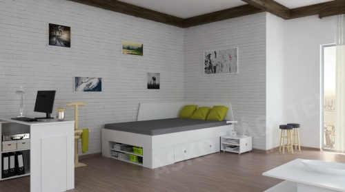 praktická postel se zábranou