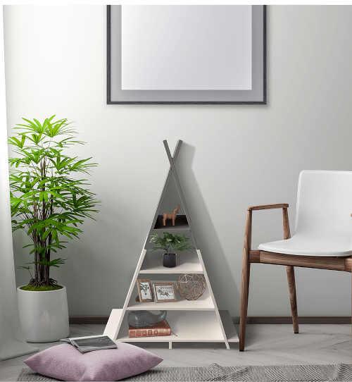 regál pyramida dvě varianty dekoru