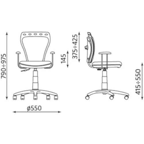 růžová židle na kolečkách