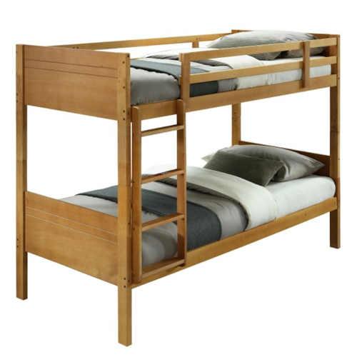 Dětská patrová postel s laťkovým roštem