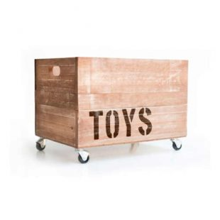 Dřevěná praktická krabice na hračky