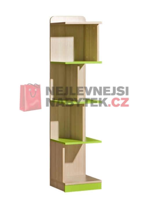 Regál do dětského pokoje v dekoru jasan/limetka