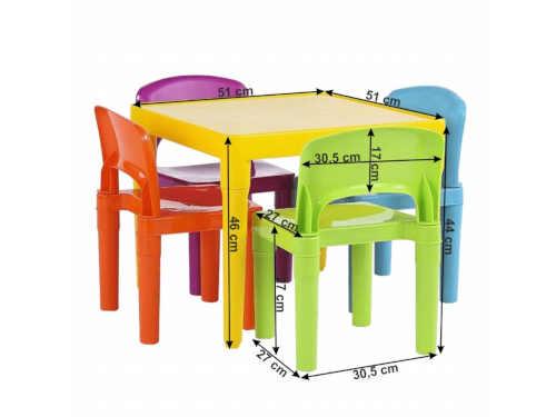 barevný dětský plastový set