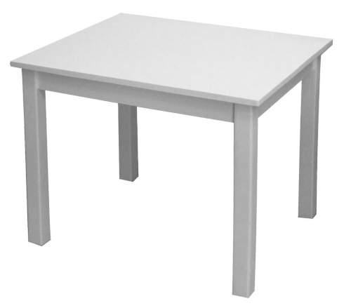 Bílý dětský stůl z masivního dřeva