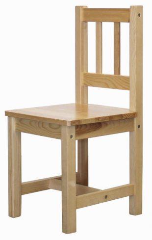 Dřevěná dětská židle z masivní borovice