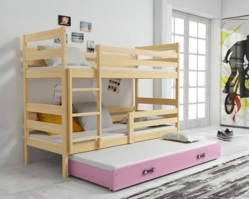 Holčičí patrová postel pro tři