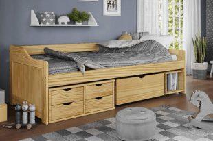 Masivní jednolůžková postel MAXI s úložným prostorem
