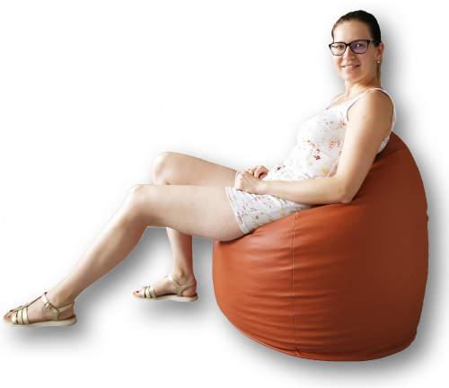 Oranžový sedací vak pro děti i dospělé
