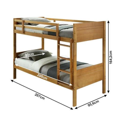 patrová dřevěná postel s roštem