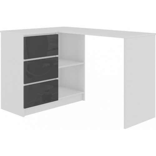 počítačový stůl levá bílá lesk