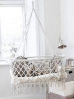 Závěsná kolébka LULABI z bavlny a bambusu