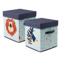 Úložný box na hračky s obrázky zvířat
