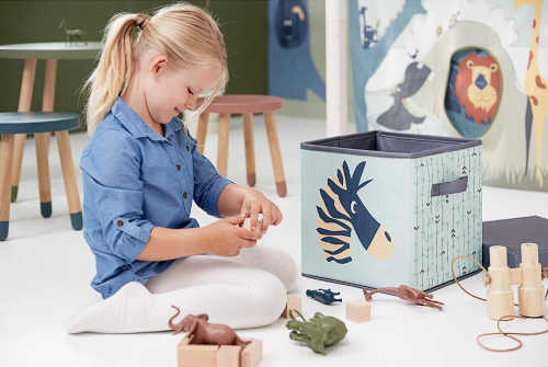 bavlněný úložný box na věci