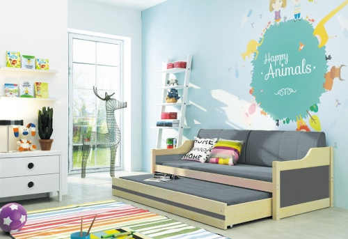 dětská postel-gauč s přistýlkou