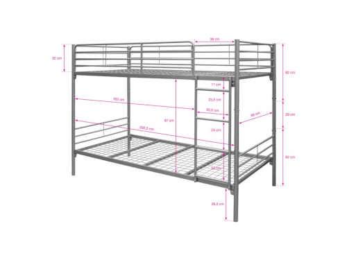 kvalitní kovová poschoďová postel