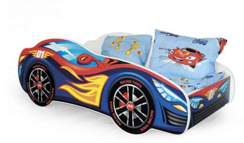 postel auto se zábranou