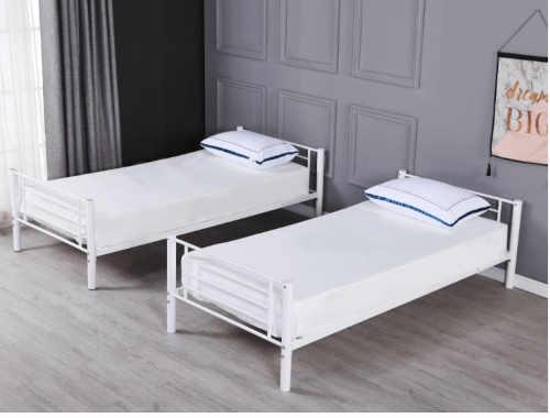 postel bílá rozložitelná na dvě postele