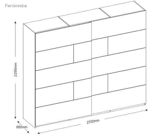 šatní skříň v moderním designu