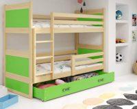 Barevná dětská patrová postel RICO 160x80 cm