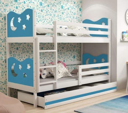 Barevná patrová postel pro kluky