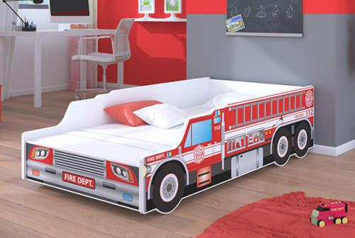 Dětská postel 140x70 cm hasičské auto