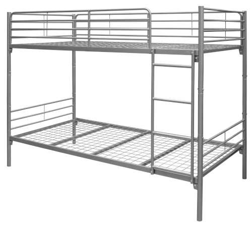 Levná kovová patrová postel s rošty