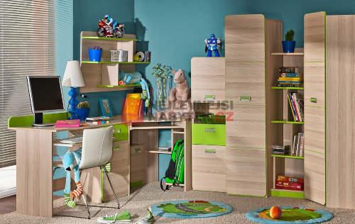 Nábytek do dětského pokoje jasan a limetka