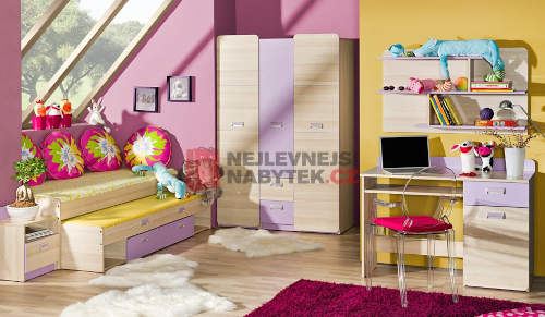 Šatní skříně do dívčího pokoje
