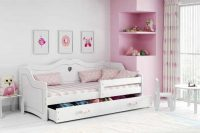 Bílá dětská postel 160x80 cm
