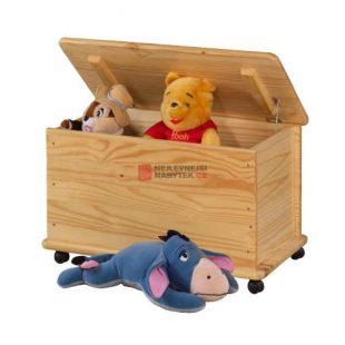Dřevěná truhla do dětského pokoje