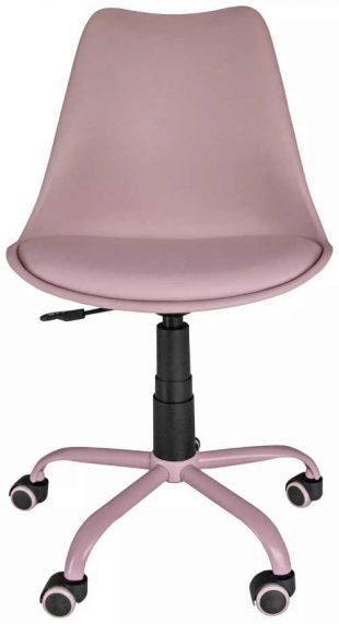 Otočná pojízdná židle ve starorůžové barvě
