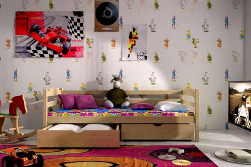 postel s možností volby úložného prostoru