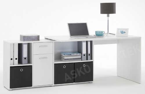 psací stůl v bílém provedení